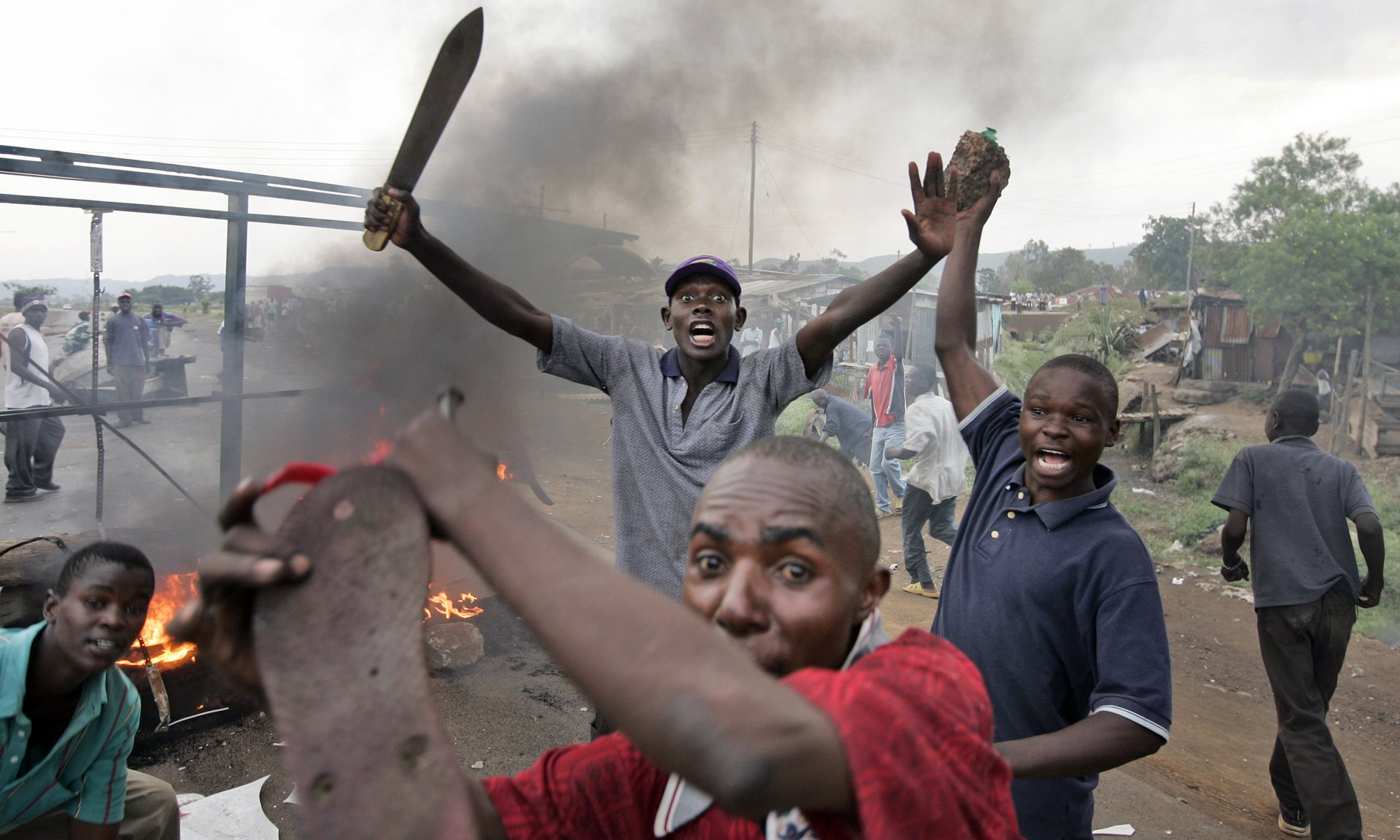 A crowdsourcing app launched in Kenya helped map post-election violence in the country in 2008. Photograph: Ben Curtis/AP