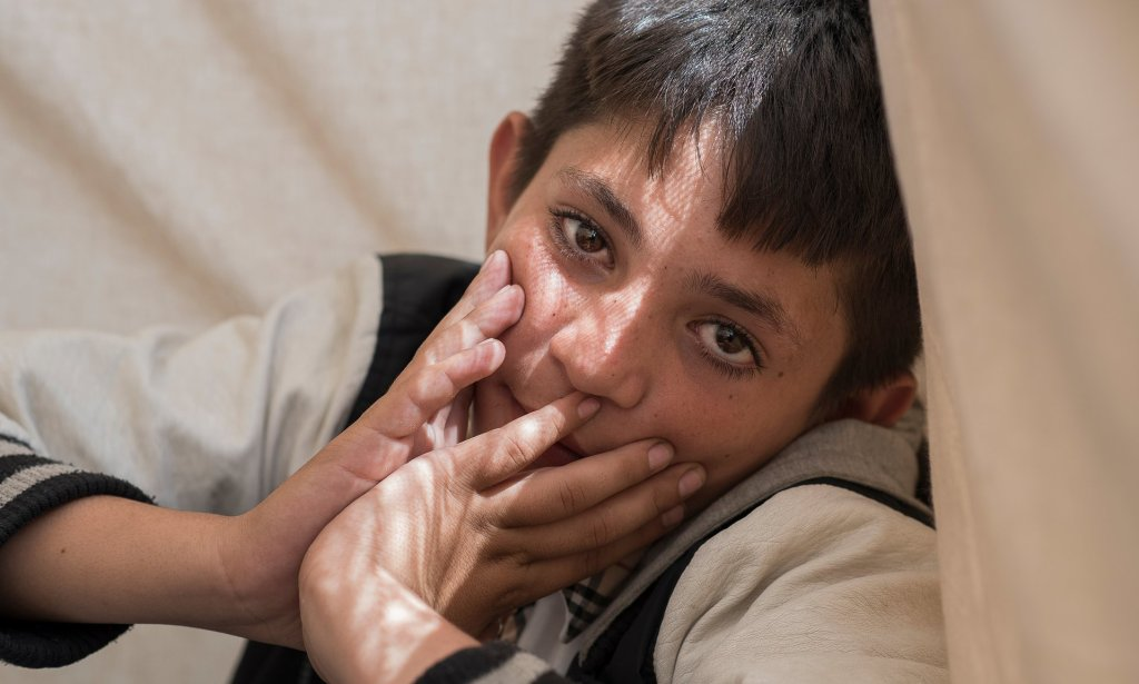 Mohammed, asked if he missed home, replied 'of course'. Photograph: Alecsandra Raluca Drăgoi for the Guardian