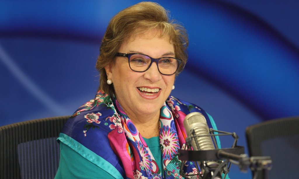 Ana María Romero, Peru's minister for women, says the march is a cry for equality. Photograph: Courtesy MIMP Peru