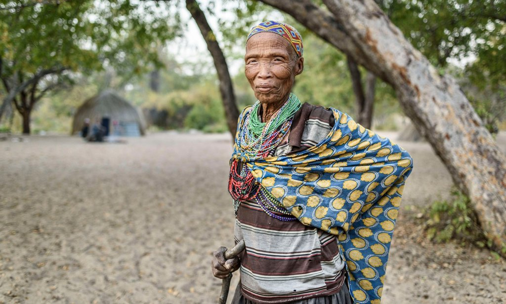 A woman from the San tribe Photograph: Jorge Fernández/LightRocket via Getty Images
