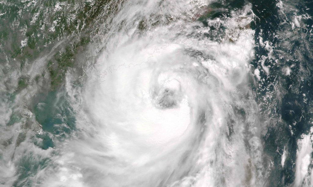 A Nasa satellite image shows Typhoon Nida approaching China. Photograph: AFP/Getty Images
