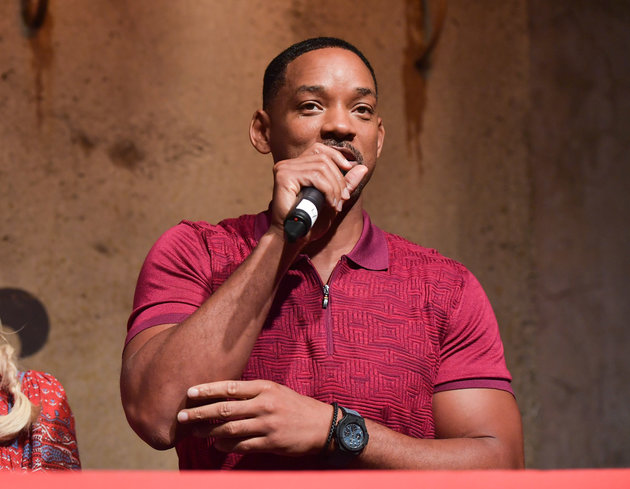 "Hollywood actor Will Smith says the way GOP presidential candidate Donald Trump talks about women makes him ""teary."" (Photo by George Pimentel/WireImage,)"