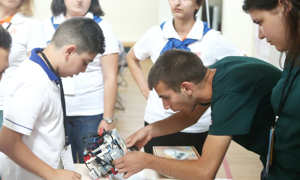 Armenian schoolchildren compete at the national stage of World Robot Olympiad Photograph: PanARMENIAN Photo Agency