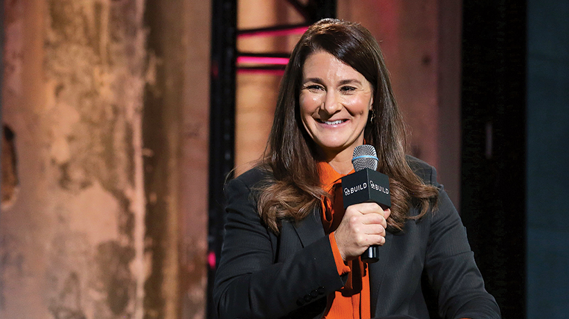 Philanthropist and activist Melinda Gates speaks at during the AOL BUILD Speaker Series at AOL Studios In New York on March 10, 2015 in New York City. (J. Countess/Getty Images)