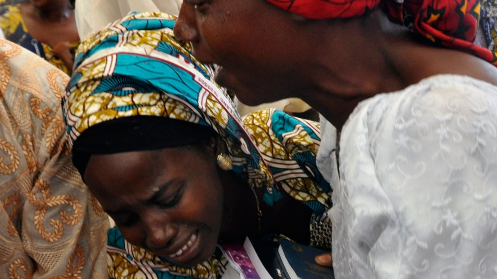 A government spokesman said he was not aware if a ransom was paid for the release of the 21 Chibok girls [AP]