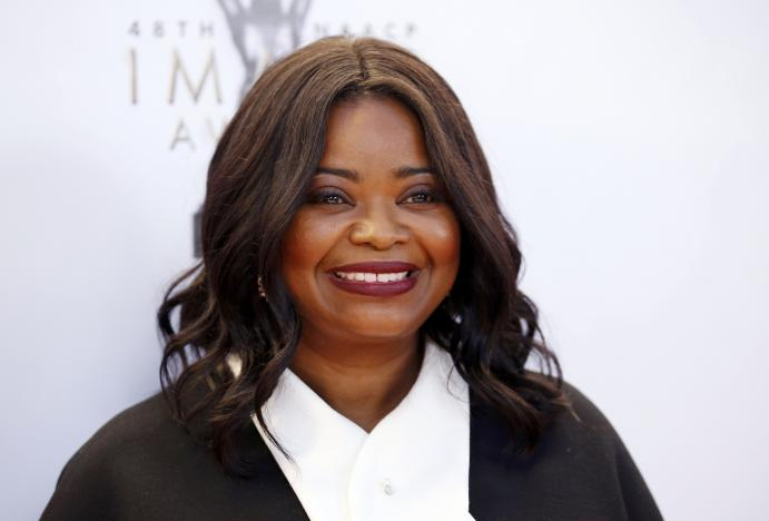 FILE PHOTO - Actress Octavia Spencer arrives at the 48th NAACP Image Awards in Pasadena, California, U.S., February 11, 2017. REUTERS/Danny Moloshok/File Photo.