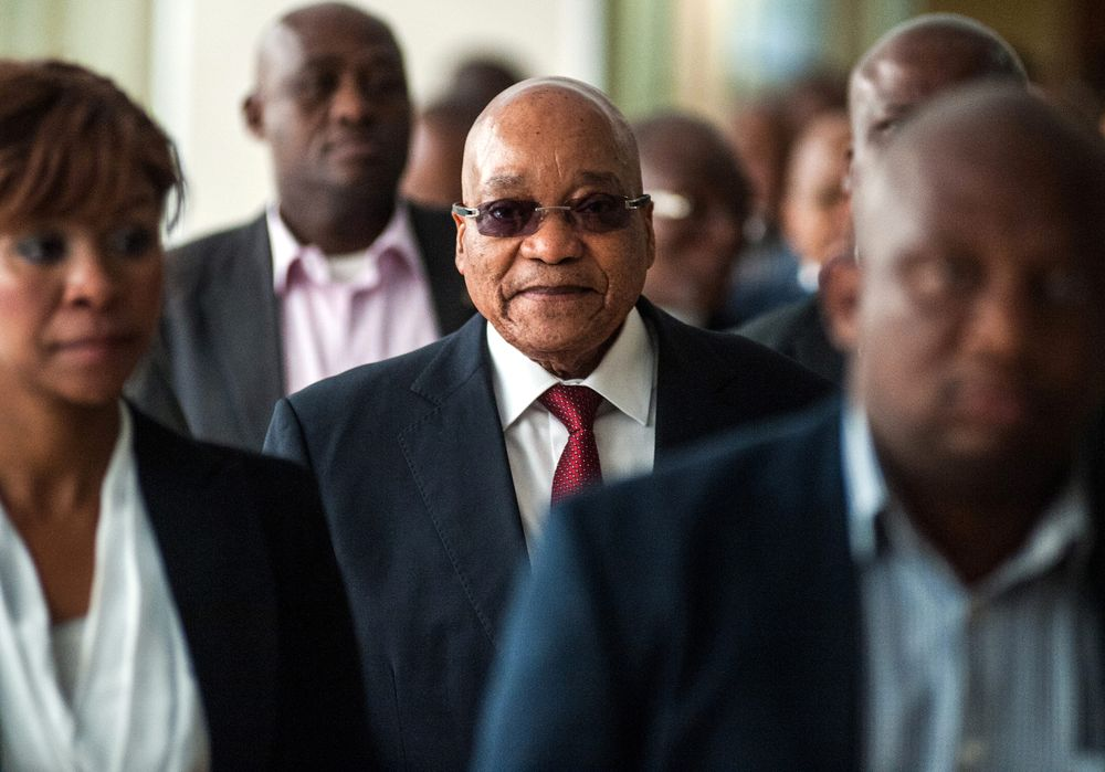 Jacob Zuma, South Africa's president. Photographer: Waldo Swiegers/Bloomberg