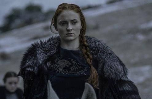 Sophie Turner in Game of Thrones.