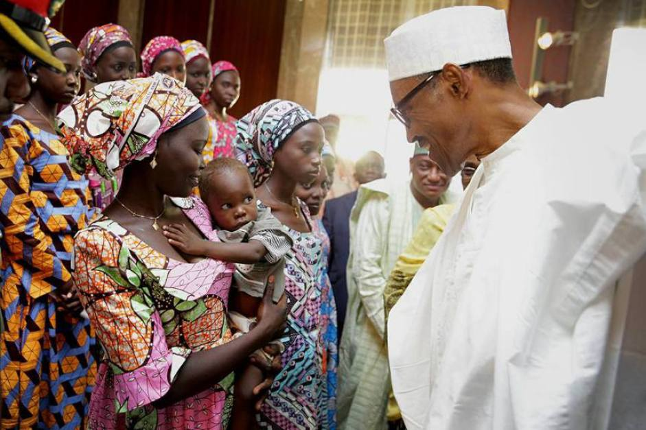 Chibok girls with Buhari