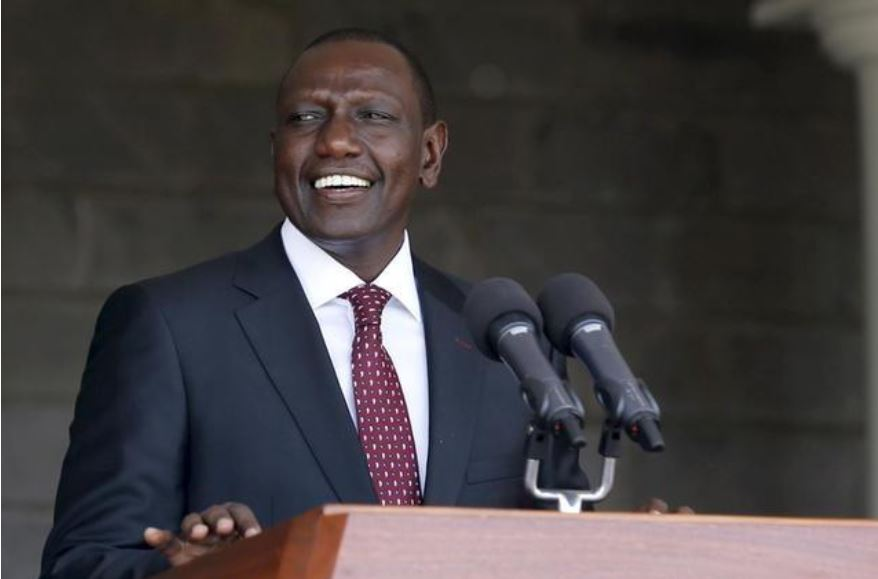 Kenya's Deputy President William Ruto addresses a news conference on the ruling by the International Criminal Court (ICC) on the case against him and broadcaster Joshua Sang in Kenya's capital Nairobi, April 8, 2016.