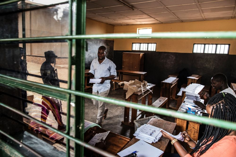 A polling station in Kigali on Aug. 3. Photographer: Marco Longari/AFP via Getty Images