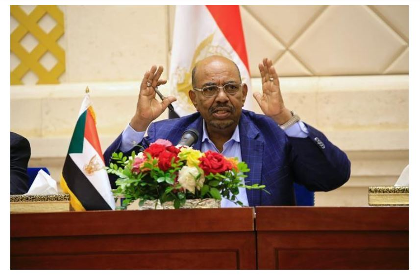 Sudan President Omar Hassan al-Bashir speaks during a press conference at the palace in Khartoum, Sudan March 2, 2017. PHOTO: Mohamed Nureldin Abdallah.