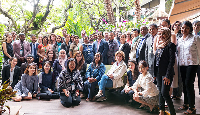 "Participants at the closing of the ""Engaging communities in approaches to countering violent extremism and incitement,"" Forum in Bangkok. Photo: UN Women/Pairach Homtong"