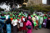 Nairobi Women March In City Streets Preaching Peace