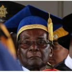 Zimbabwe President Robert Mugabe attends a university graduation ceremony in Harare, Zimbabwe, November 17, 2017. REUTERS/Philimon Bulawayo