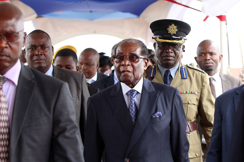 Robert Mugabe at a graduation ceremony in Harare, Nov. 17. Photographer: Bloomberg