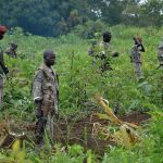 South Sudanese SPLA soldiers are pictured in Pageri in Eastern Equatoria. Photographer: Samir Bol/AFP via Getty Images