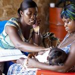 Health workers in Ghana can access expert advice over the phone when helping patients. Photo: Nana Kofi Acquah/Novartis Foundation