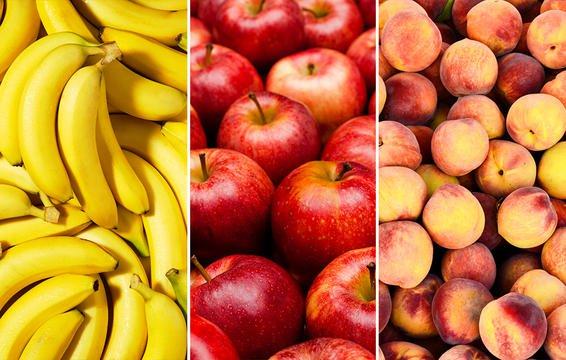 bananas apple peaches