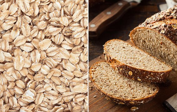 oats and whole wheat bread