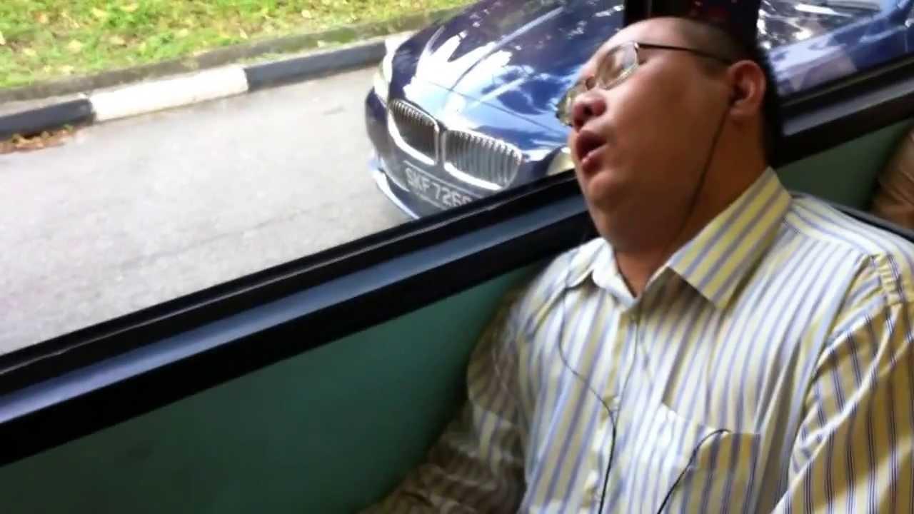 sleep on a bus