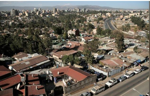 An aerial view shows residential estates in Addis Ababa, Ethiopia February 15, 2018. REUTERS/Tiksa Negeri