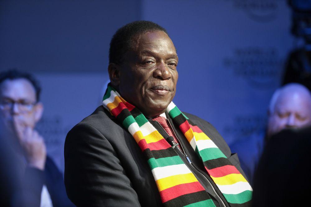 Emmerson Mnangagwa Photographer: Jason Alden/Bloomberg