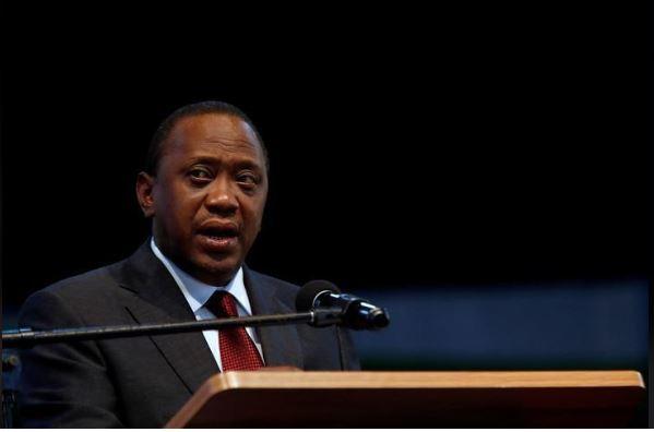President Uhuru Kenyatta speaks after he was announced winner of the repeat presidential election, in Nairobi, Kenya October 30, 2017. REUTERS/Thomas Mukoya/File Photo