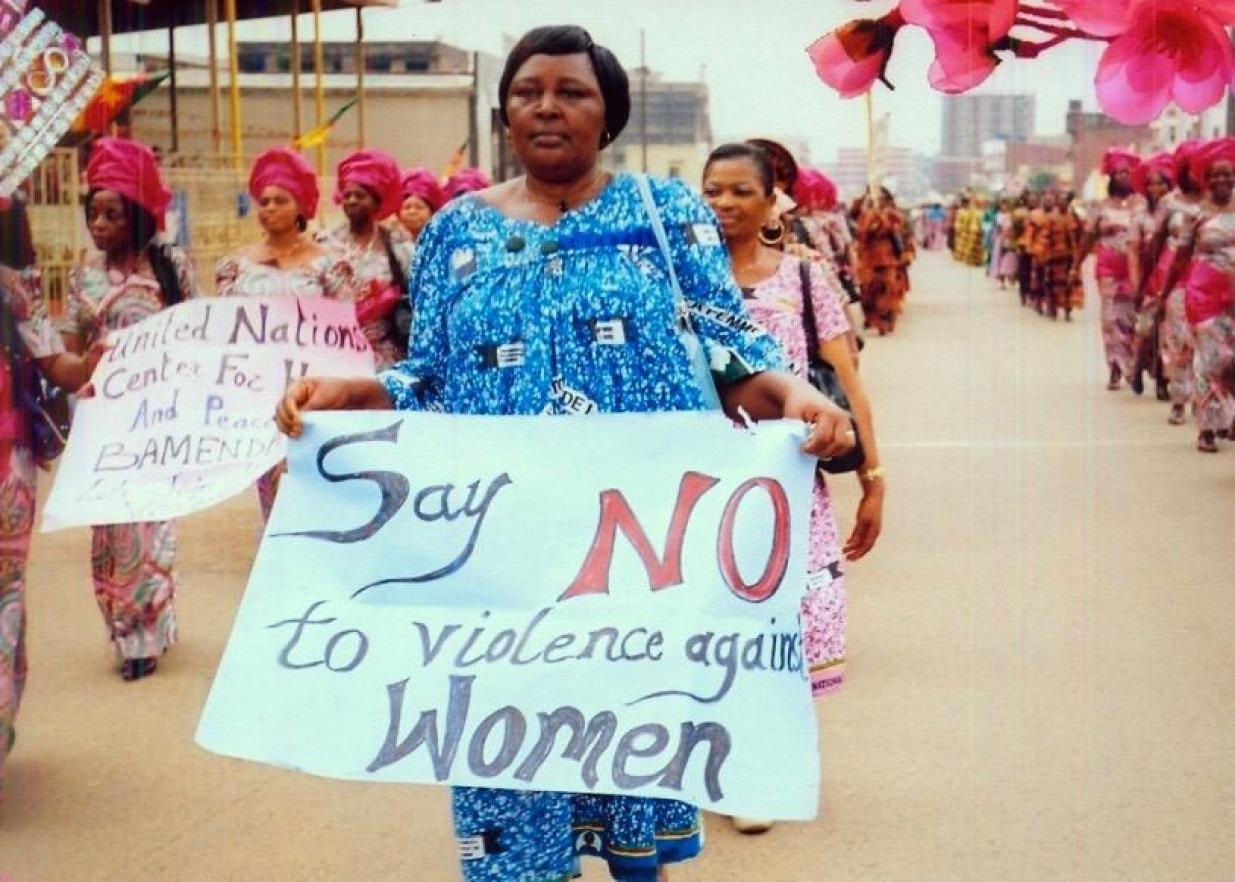 cameroon women protest