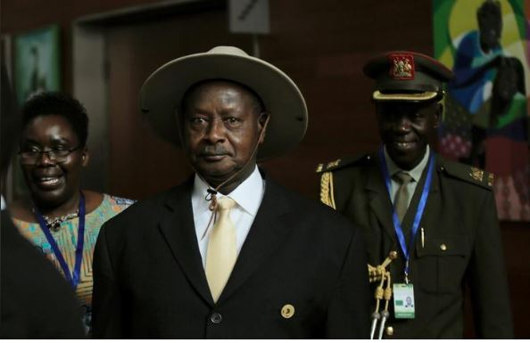 Uganda's President Yoweri Museveni arrives for the 30th Ordinary Session of the Assembly of the Heads of State and the Government of the African Union in Addis Ababa, Ethiopia January 28, 2018. REUTERS/Tiksa Negeri