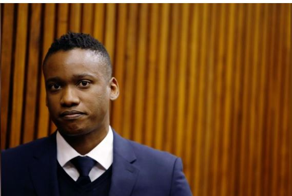 Duduzane Zuma, son of former South African president Jacob Zuma, attends the Randburg Magistrate Court on homicide charges related to a fatal car crash in 2014, in Randburg, near Johannesburg, South Africa July 12, 2018. REUTERS/Siphiwe Sibeko