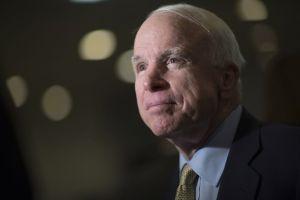 John McCain Photographer: Andrew Harrer/Bloomberg
