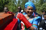 First Lady Gertrude Mutharika Donates Materials To Needy Girls At Nsalura Community