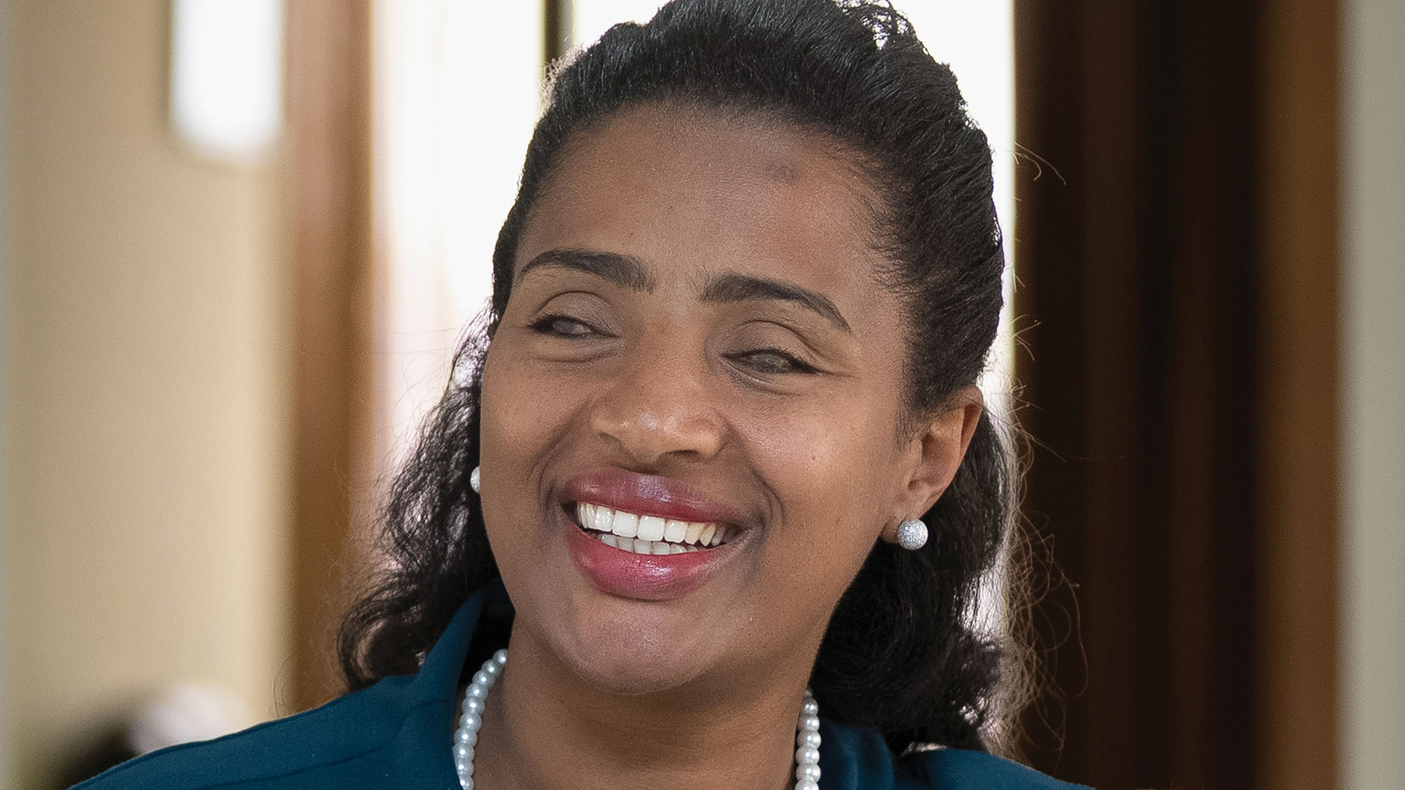 Yetnebersh Nigussie, a blind lawyer, reacts at her office in Addis Ababa, on October 11, 2017. Blind Ethiopian activist Yetnebersh Nigussie, who won Right Livelihood Award for her work promoting the rights of people with disabilities, fights for equal rights for the disabled, AFP reports October 25, 2017. / AFP PHOTO / Zacharias ABUBEKER        (Photo credit should read ZACHARIAS ABUBEKER/AFP/Getty Images)