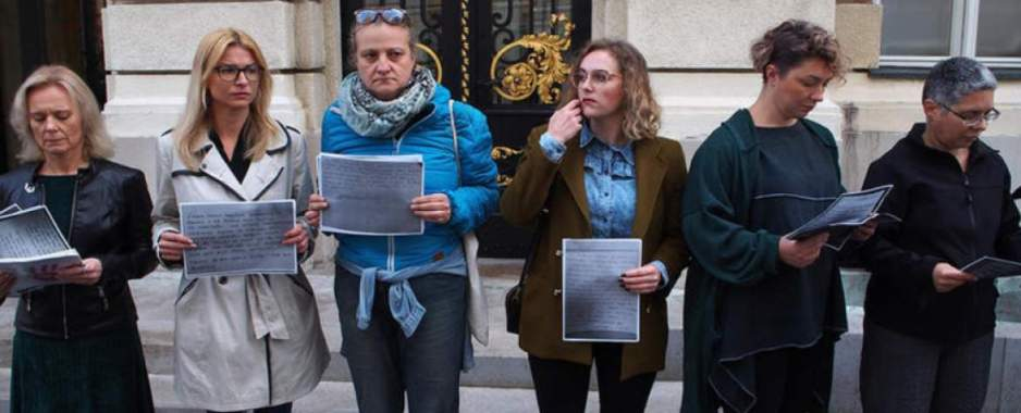 Croats Protest Against Domestic Violence
