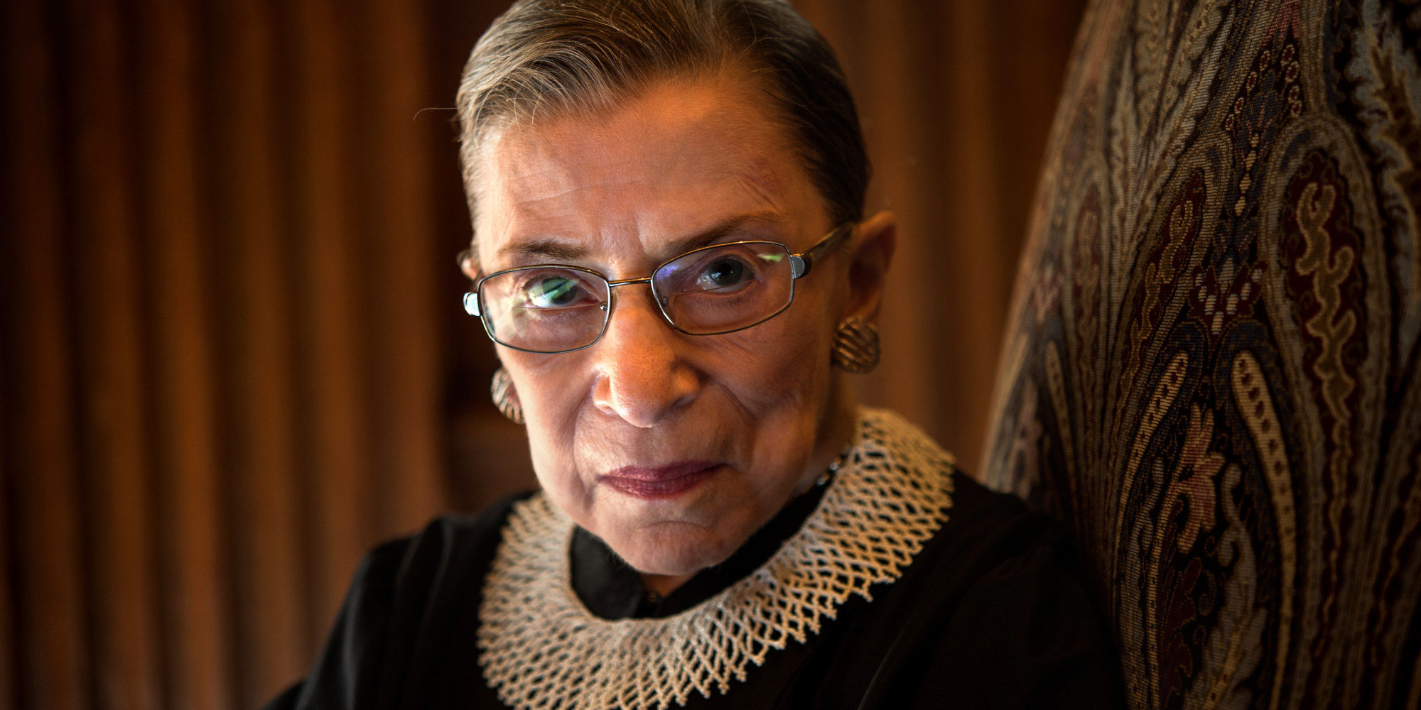 WASHINGTON, DC - AUGUST 30: Supreme Court Justice Ruth Bader Ginsburg, celebrating her 20th anniversary on the bench, is photographed in the West conference room at the U.S. Supreme Court in Washington, D.C., on Friday, August 30, 2013. (Photo by Nikki Kahn/The Washington Post via Getty Images)