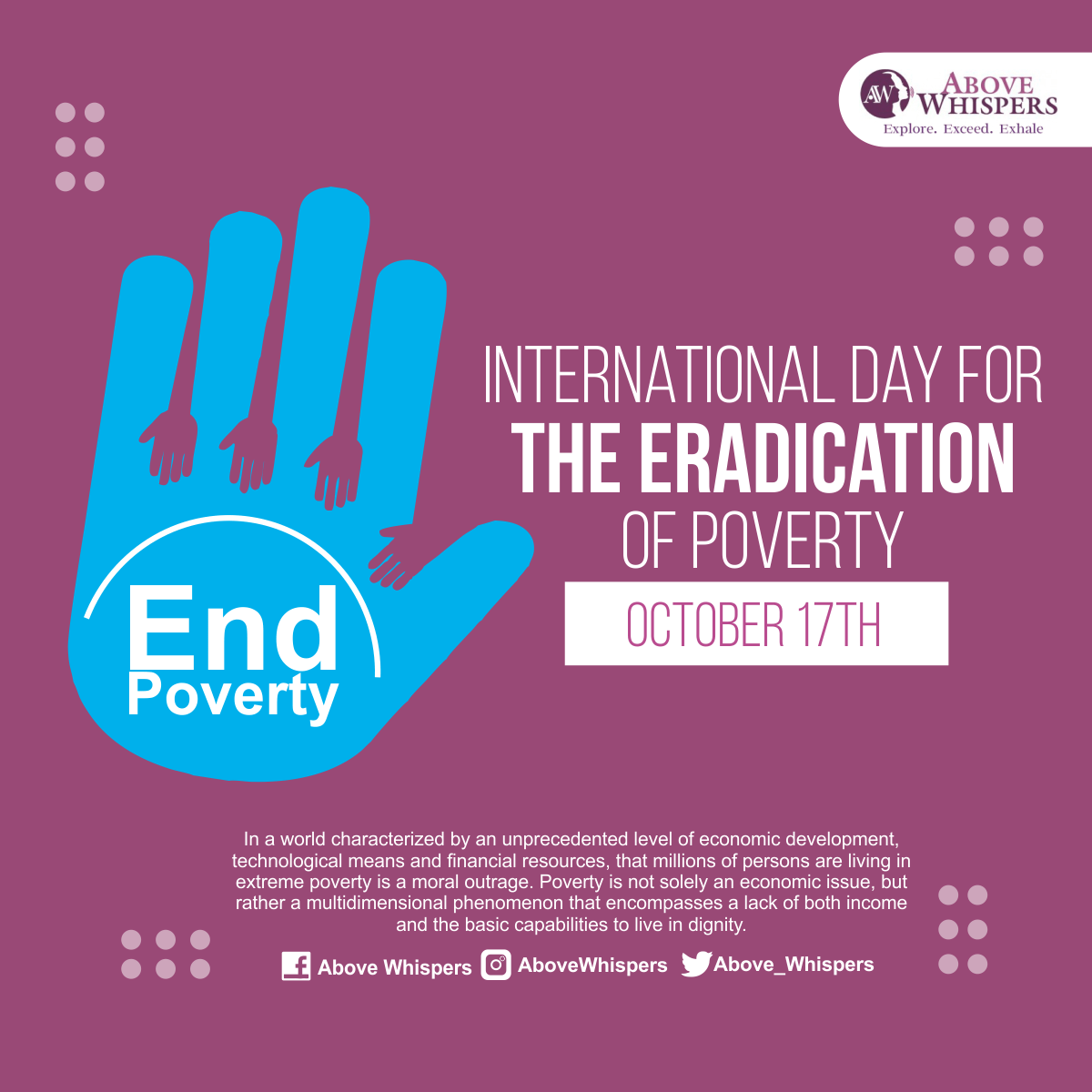 International Day For The Eradication of poverty (1)