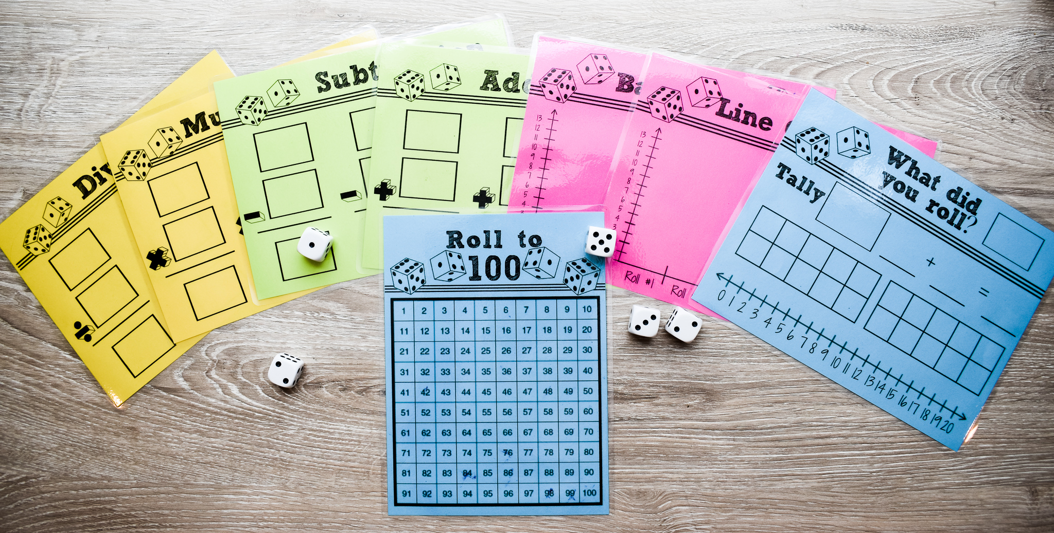 Dice Math Game Printables