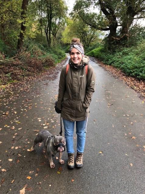 Unser erster Spaziergang nachdem wir den Sachkundenachweis gemacht haben.