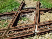 remnants of old railway lines in a hatch formation