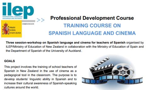 advert for Spanish cinema course