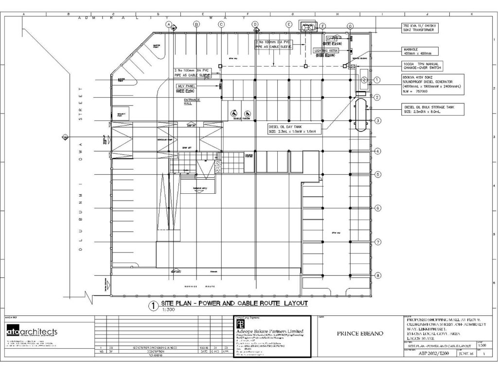 Electrical Drawings Adeoye Bakare Partners Limited
