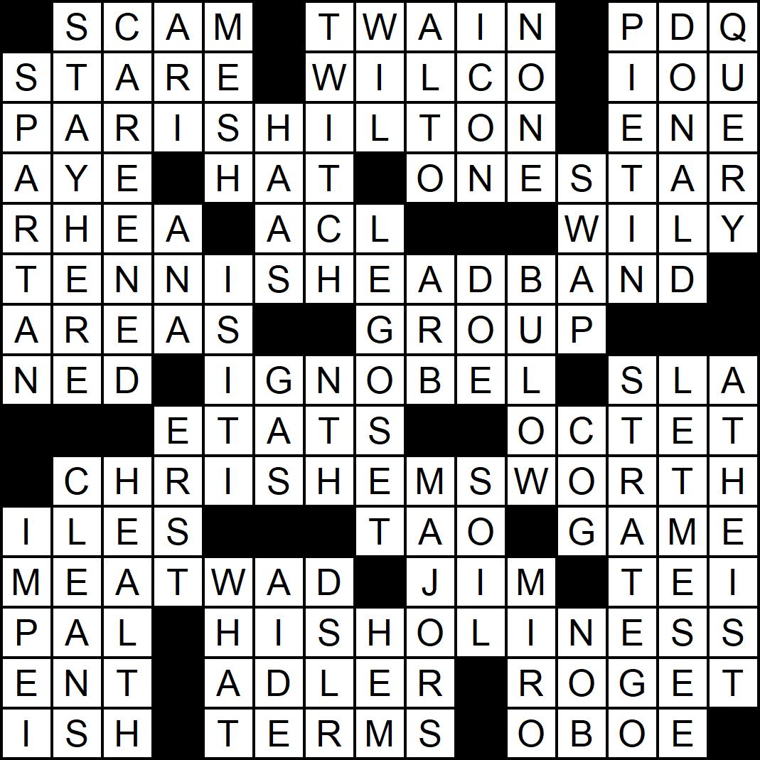 """""""Never Say Never"""" crossword answers"""