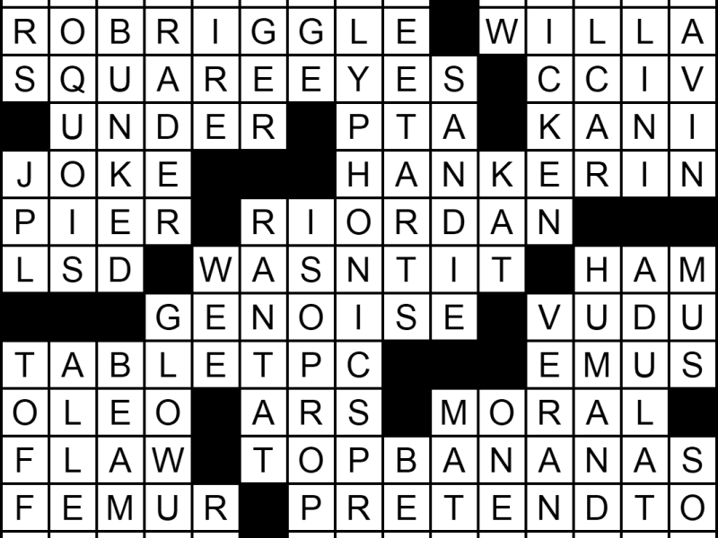 """""""Free Up Space"""" crossword answers"""