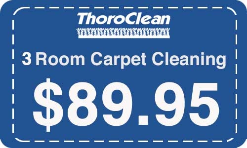 3 Rooms acrpet cleaning by Throrclean - Coupon