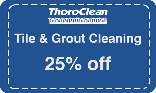 Tile & grout cleaning by Thoroclean!