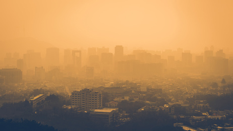 Super smoggy city pictured. Definitely a lot of people who need air duct cleaning