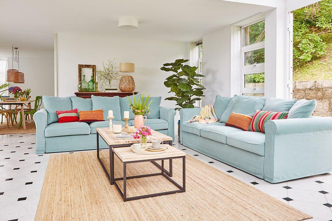Home staging inverso - separamos espacios con alfombras