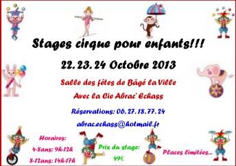 stage cirque 22.23.24 octobre