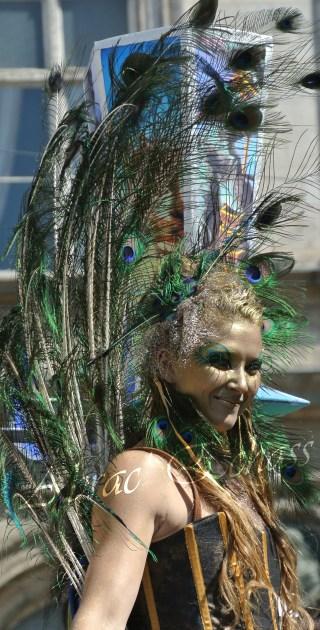 echass et toiles echassiers dali femme paon plumes de paon crinoline parade animation evenementiel grandiose magnifiques (9)